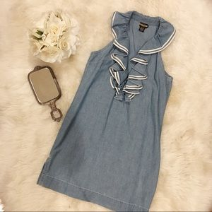 Rugby by Ralph Lauren Frill Chambray Tank Dress.